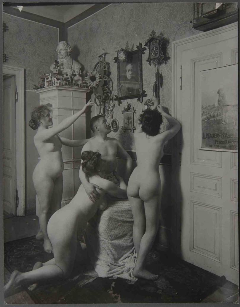 Inszenierung in einer Wiener Villa, um 1900 (Foto: IMAGNO/Sammlung Christian Brandstätter)
