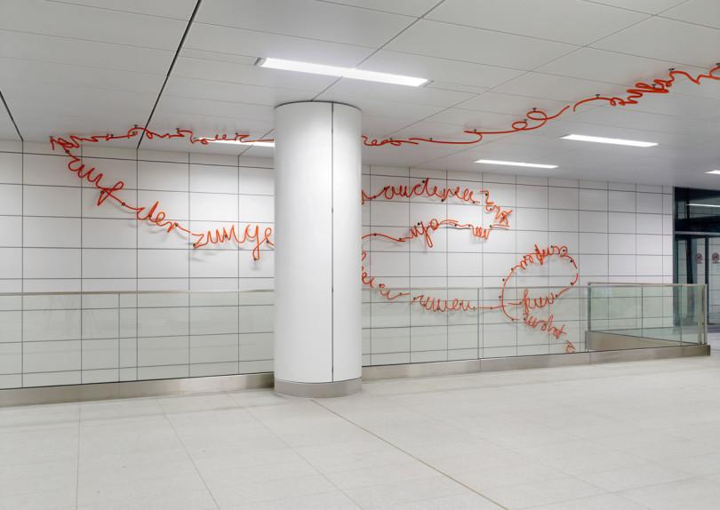 U-Bahn Station der Wehrhahn-Linie von Künstlern gestaltet