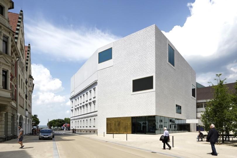 Der Erweiterungsbau des Voralberg Museums in Bregenz