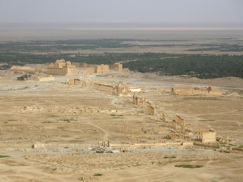 Blick auf die antike Ruinenstadt von Palmyra im Mai 2010