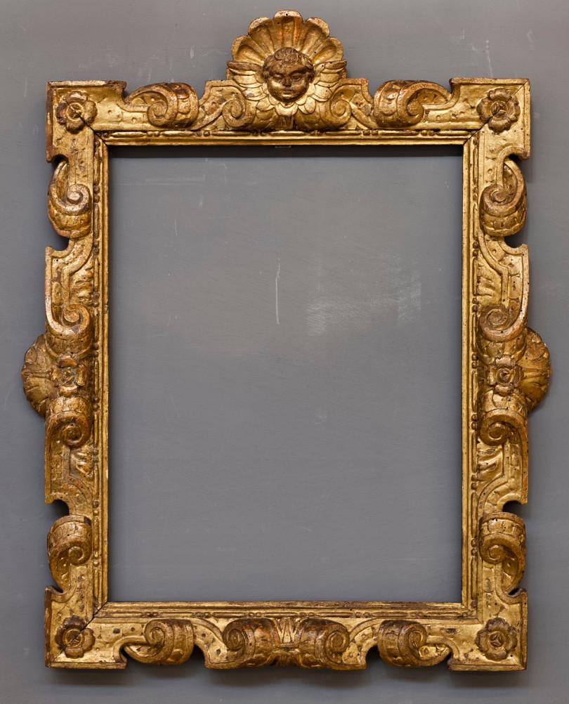 Vergoldeter, geschnitzter Sansovino-Rahmen aus Venedig