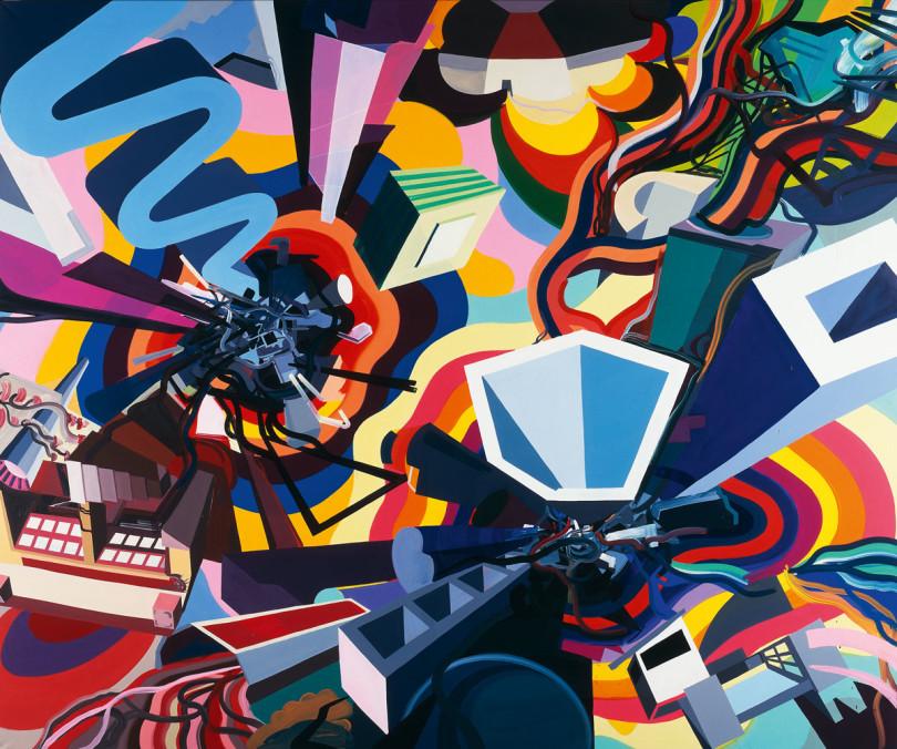Franz Ackermanns »evasion XVII«, 1998, ist im Kunstmuseum in der Schau »Wolfsburg Unlimited« zu sehen (Foto: Helga Mundt)