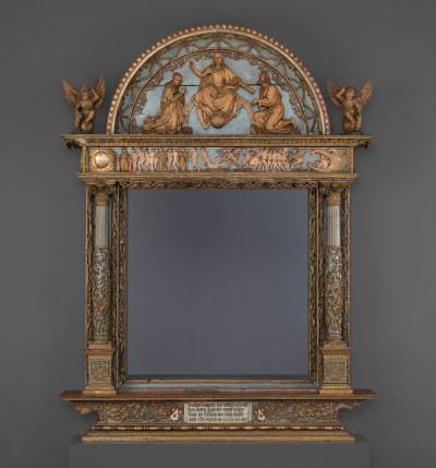Altarretabel aus Lindenholz