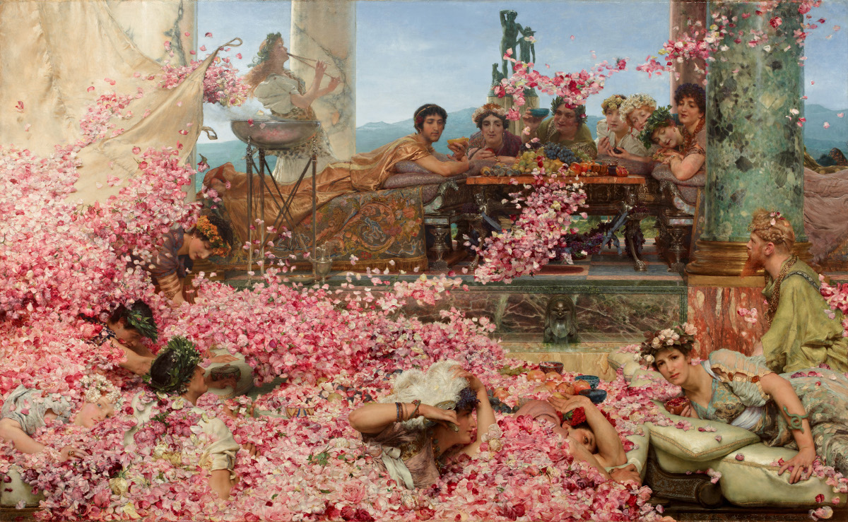 "Lawrence Alma-Tadema, ""Die Rosen des Heliogabal"