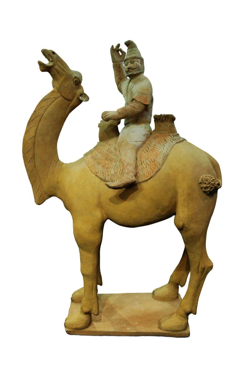 Chinesischer Kamelreiter aus Terrakotta