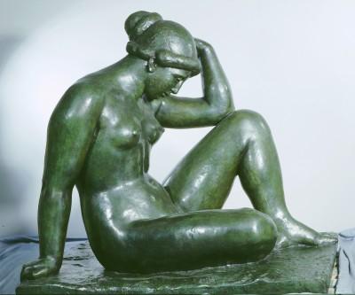 Zu dieser Skulptur ließ sich Maillol von Kessler inspirieren: Aristide Maillol Méditerranée, 1905 Bronze Privatsammlung (Foto: Liebermann-Haus, Berlin)