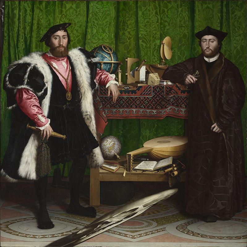 Hans Holbein d. J., (1497/8 - 1543), Die Gesandten, 1533 (Foto: Hans Holbein, National Gallery, London)