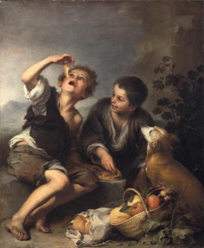 Bartolomé Esteban Murillo: Die Pastetenesser, um 1670/75, © Bayerische Staatsgemäldesammlungen München - Alte Pinakothek