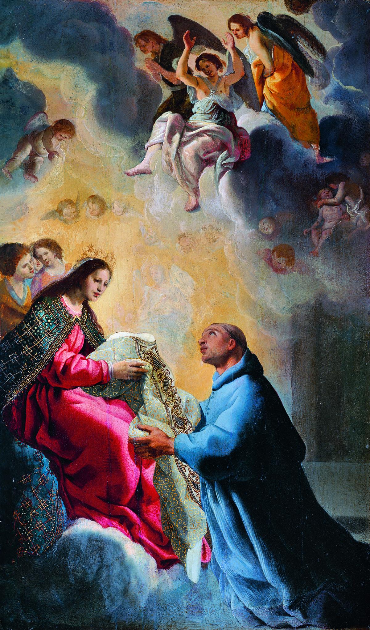 Eugenio Cajés: Der Heilige Ildefons empfängt von Maria die Kasel, 17. Jh., © Musée des Beaux-Arts de Bordeaux, 1860 (Foto: L. Gauthier, F. Deval)