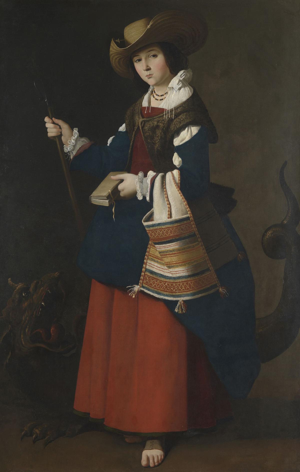 Francisco de Zurbarán: Heilige Margareta von Antiochien, 1630-34, © The National Gallery, London