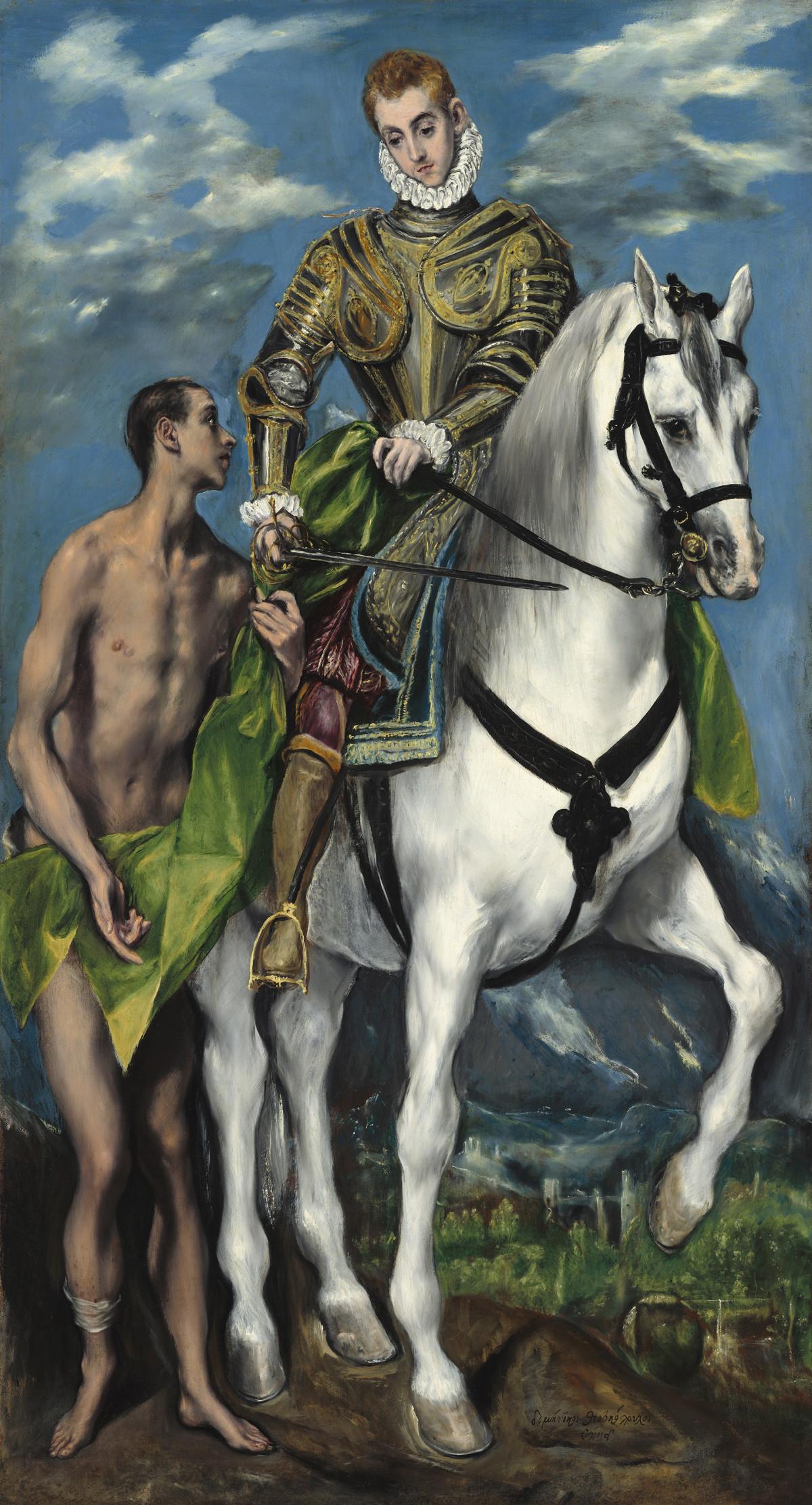 El Greco: Der Heilige Martin und der Bettler, 1597/1599, © Courtesy National Gallery of Art, Washington