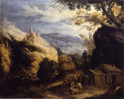 Antonio de Pereda y Salgado: Bergige Landschaft mit Ziehbrunnen, um 1650, © Staatliche Museen zu Berlin, Gemäldegalerie (Foto: Jörg P. Anders)