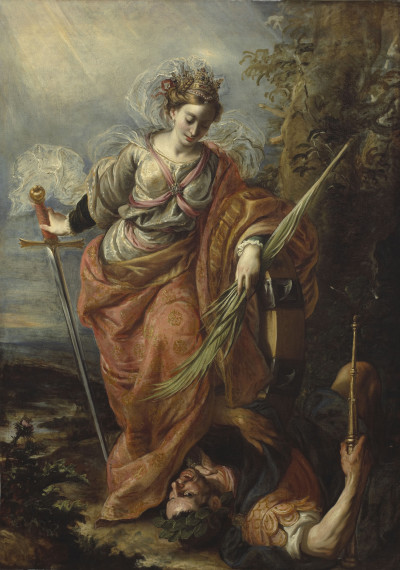 Claudio Coello: Die Heilige Katharina von Alexandrien bezwingt Kaiser Maxentius, 1664-1665, © Meadows Museum, SMU, Dallas, Algur H. Meadows Collection MM.76.01 (Foto: Michael Bodycomb)