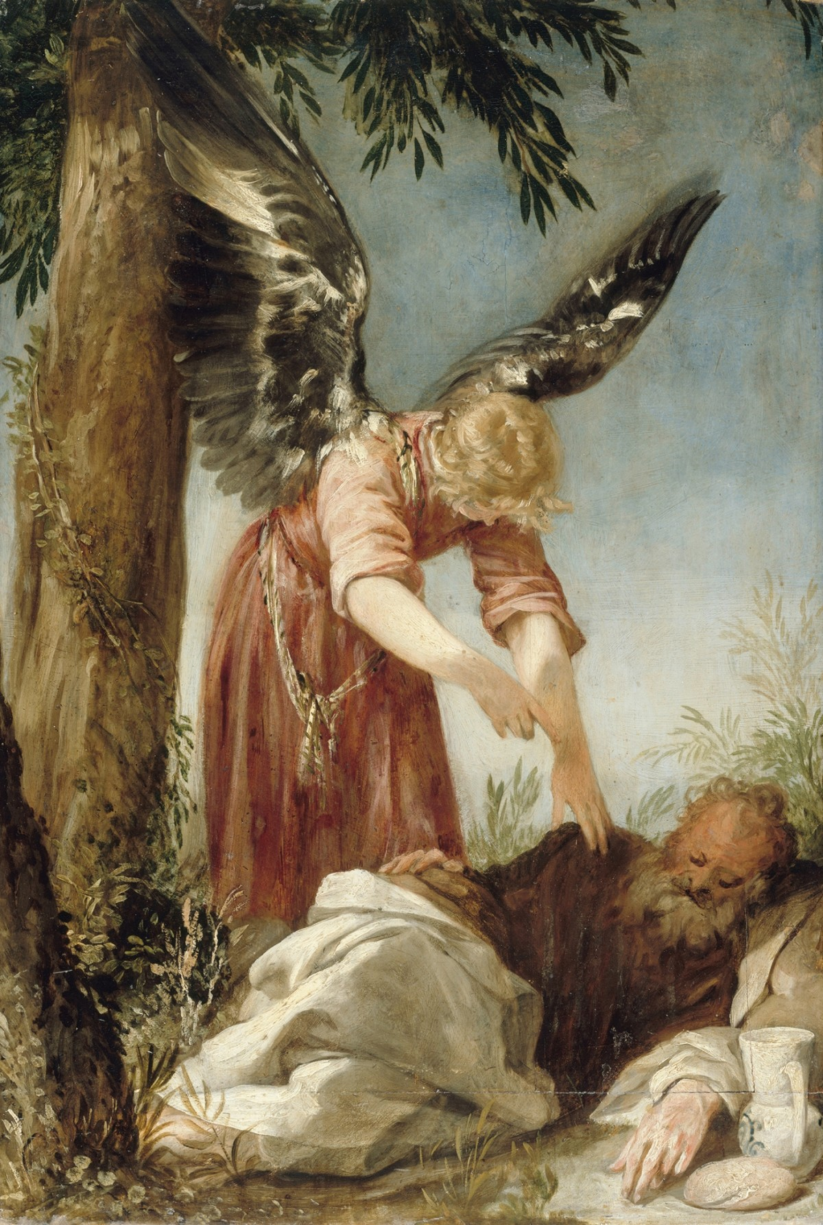 Juan Antonio de Frias y Escalante: Der Engel erweckt den Propheten Elias in der Wüste, um 1650/60, © Staatliche Museen zu Berlin, Gemäldegalerie (Foto: Jörg P. Anders)