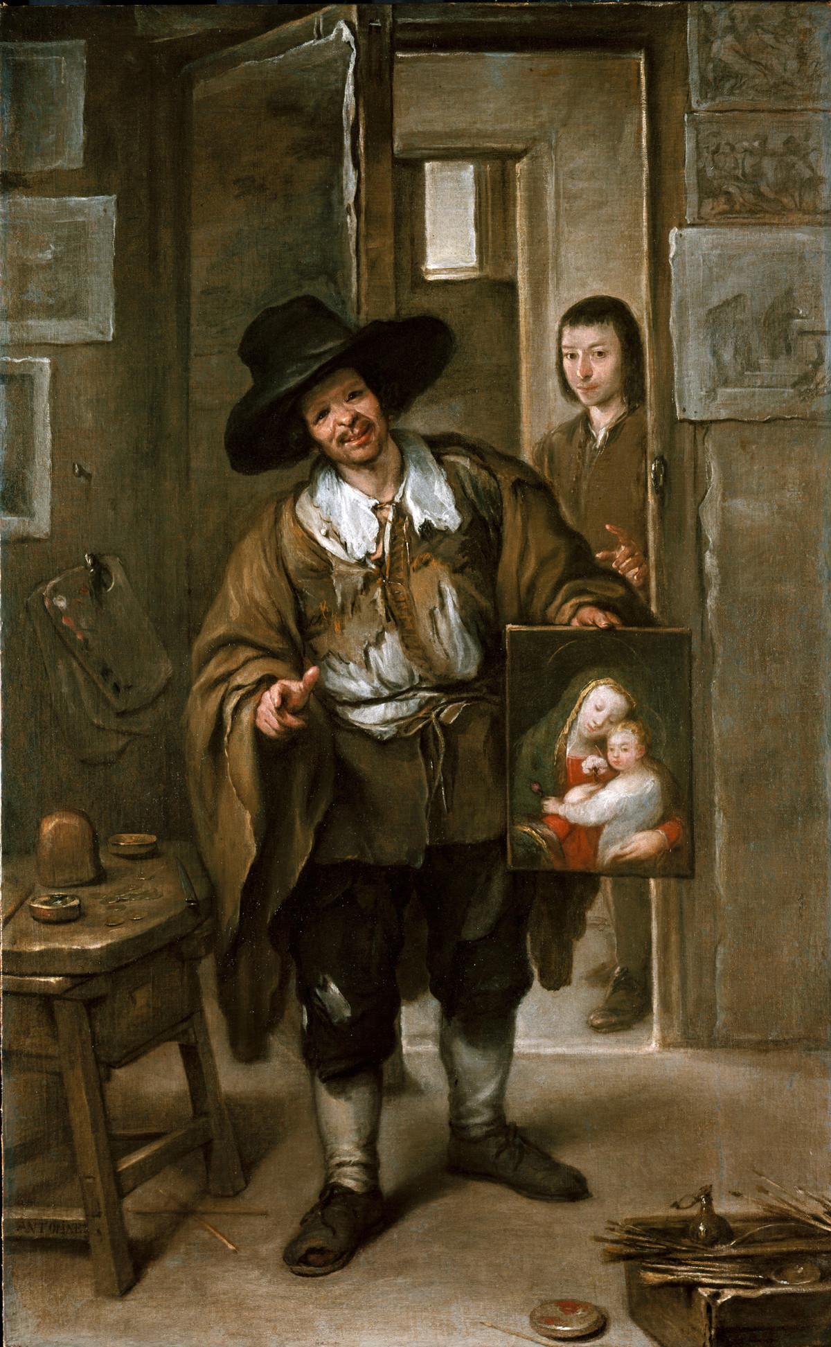 José Antolínez: Atelierszene (Der Bildhändler), um 1670, © Bayerische Staatsgemäldesammlungen München - Alte Pinakothek)