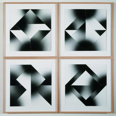 Kilian Breier, programmierte Bildserie mit 5 Elementen im Museum im Kulturspeicher Würzburg