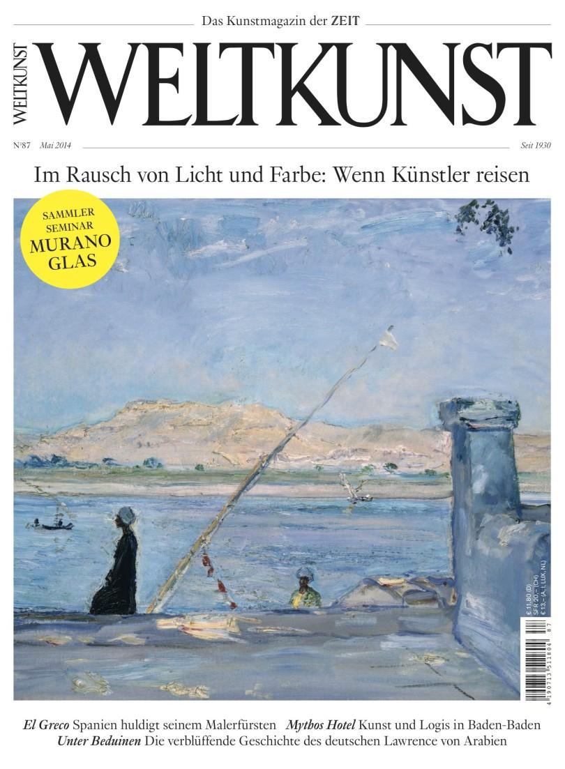 Cover WELTKUNST Nr. 87 – Mai 2014
