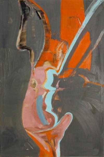 "Tina Oelker ""Tageshase # 0551"", 2014, Öl auf Leinwand, 60 x 40 x 5 cm, Aus der Serie: Hasenmanufaktur Hamburg, 1ooo Hasen, limited edition"