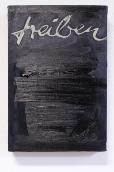 "Tina Oelker ""Treiben"", 2014, Öl auf Leinwand, 45 x 30 x 5 cm"