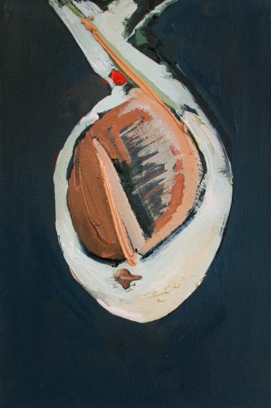 "Tina Oelker ""POALES N° 1"", 2014, Öl auf Leinwand, 45 x 30 x 5 cm"