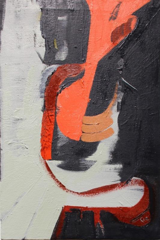 "Tina Oelker ""POALES N° 8"" 2015, Öl auf Leinwand, 45 x 30 x 5 cm"