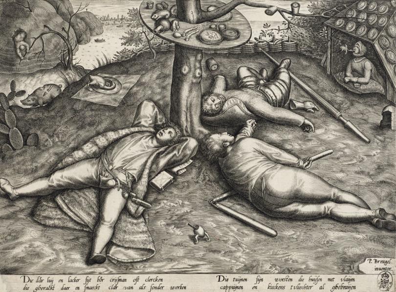 »Das Schlaraffenland« (1560) von Pieter van der Heyden im Bucerius Kunst Forum