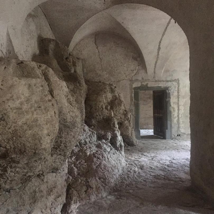 Auf den Fels gebaut: Ein Gewölbe in Schloss Langenstein