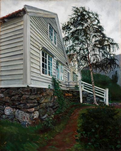 Nikolai Astrup malte das Pfarrhaus seiner Eltern am Jølster-See