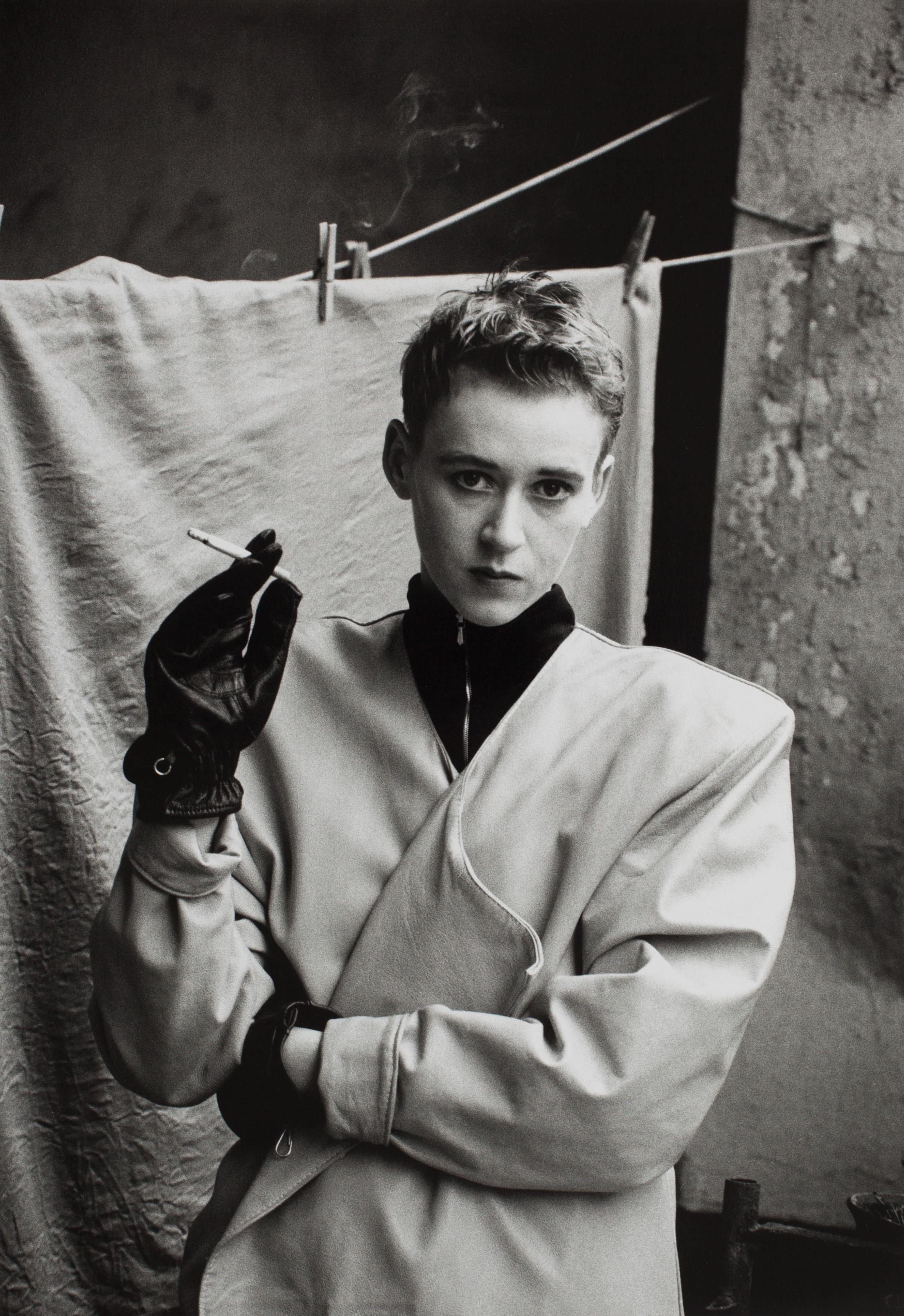 Frieda von Wild auf einem Modefoto aus den späten 1980er-Jahren (Foto: Sibylle Bergemann)