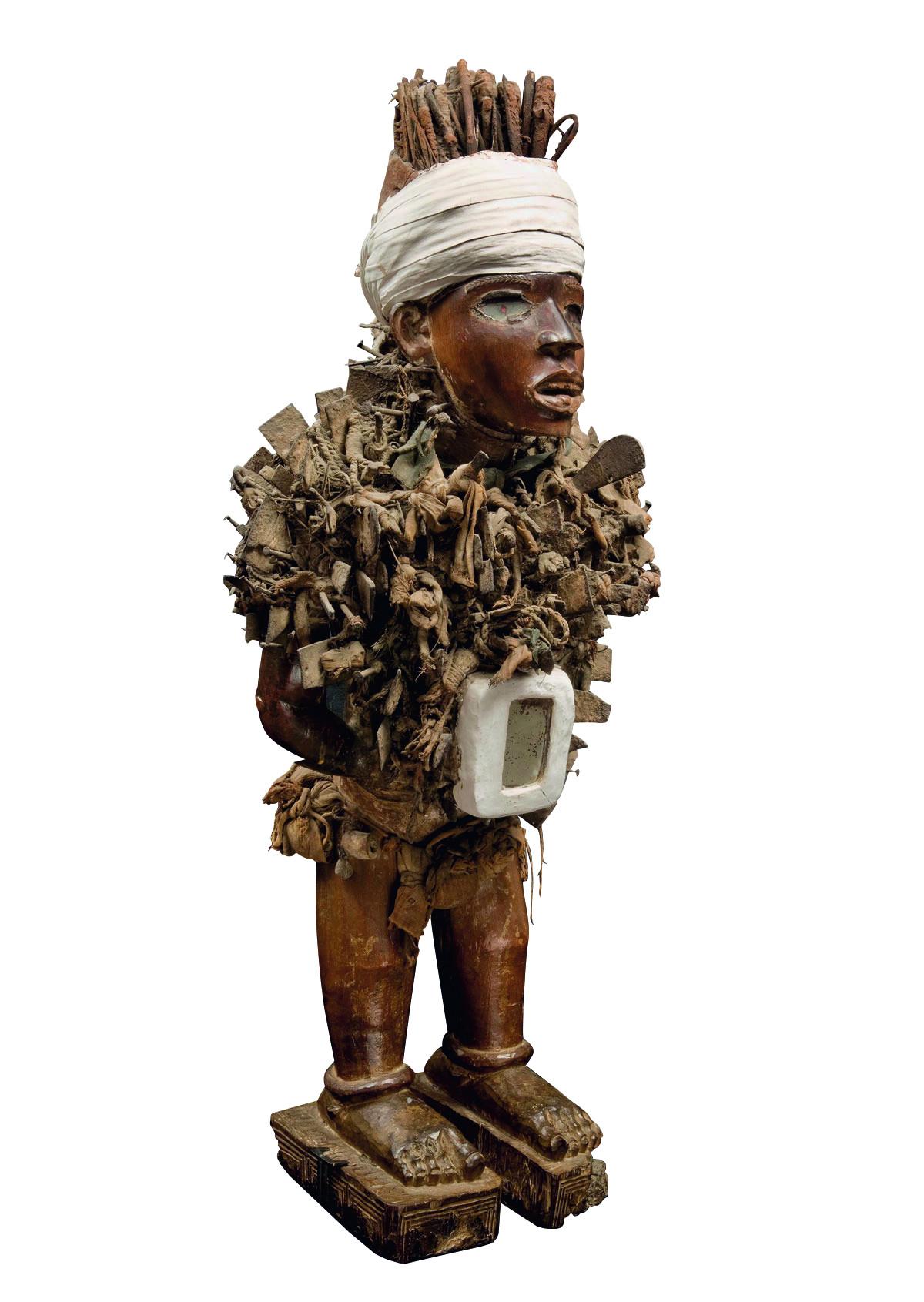 Nkonde-Figur, Nagelfetisch, vor 1914
