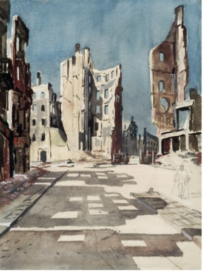 Alexander Deineka, Berlin, ruined Buildings, 1945
