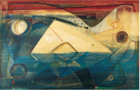 Tihamér Gyarmathy, Dynamic Composition, 1964
