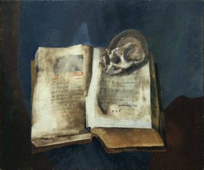 Vladimir Tatlin, Skull on open Book, between 1948 and 1953