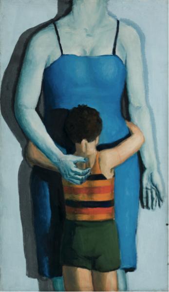 Andrzej Wróblewski, Syn i zabita matka (Dziecko z zabitą matką) [Child with Dead Mother], 1949