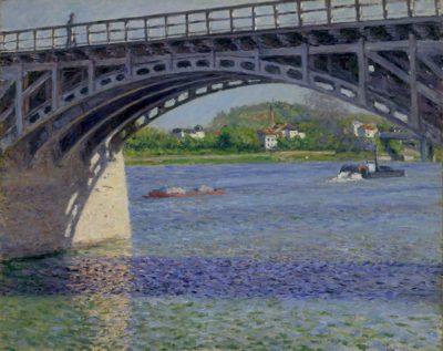 Gustave Caillebotte: Die Brücke von Argenteuil und die Seine, um 1883, Privatsammlung