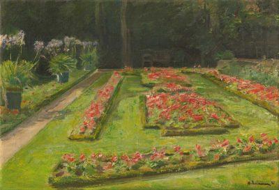 Max Liebermann: Die Blumenterrassen im Wannseegarten nach Süden, 1921, Privatsammlung