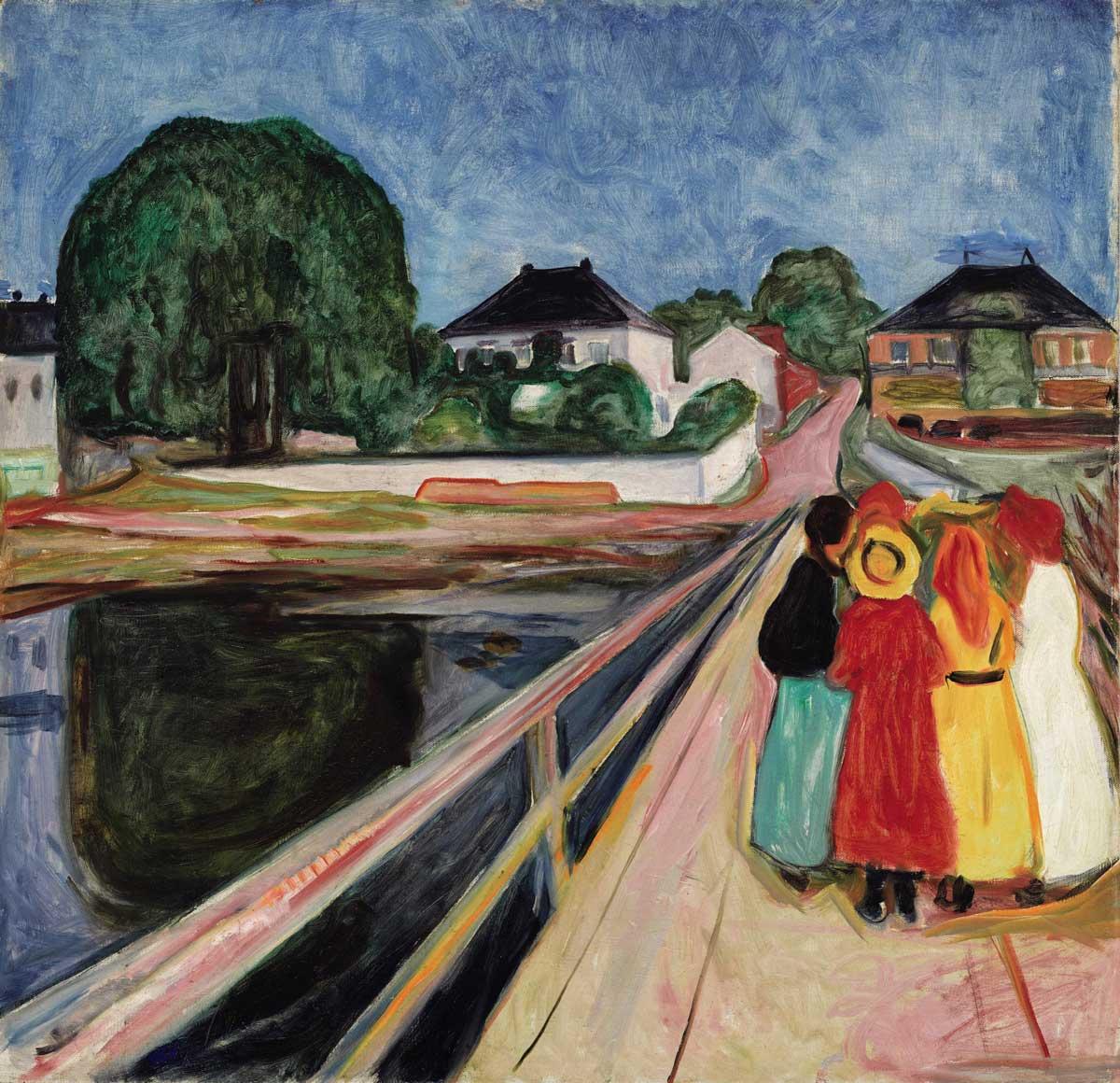 Edvard Munch: Mädchen auf der Brücke, 1902, Privatsammlung
