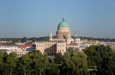 Blick auf Potsdams historischen Stadtkern mit Museum Barberini, (Foto: Helge Mundt)
