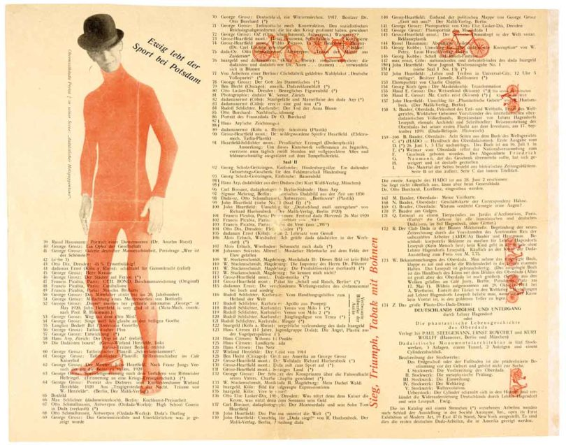 Katalog der Dada-Messe, 1920 (Foto: Nosbüsch & Stucke, Berlin)
