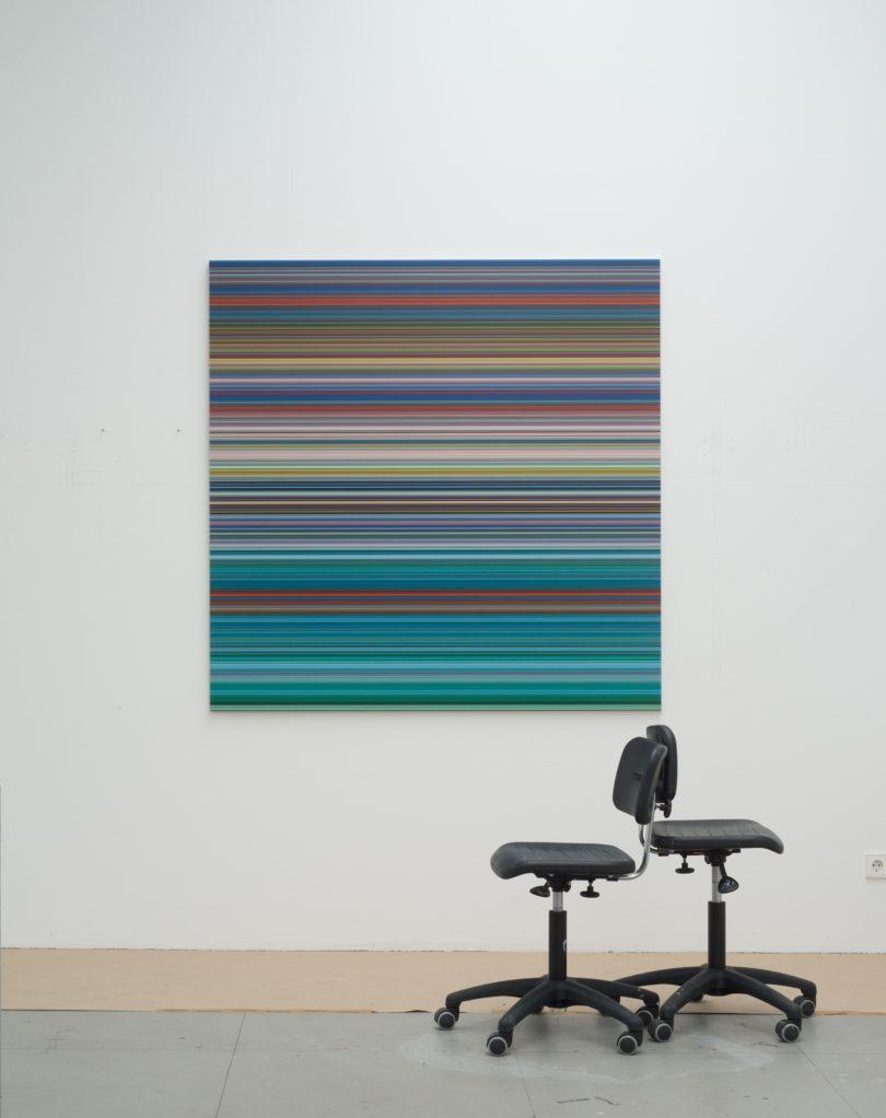 Einblicke in Richters Kölner Atelier (Foto: Gerhard Richter, 2015; Albrecht Fuchs)
