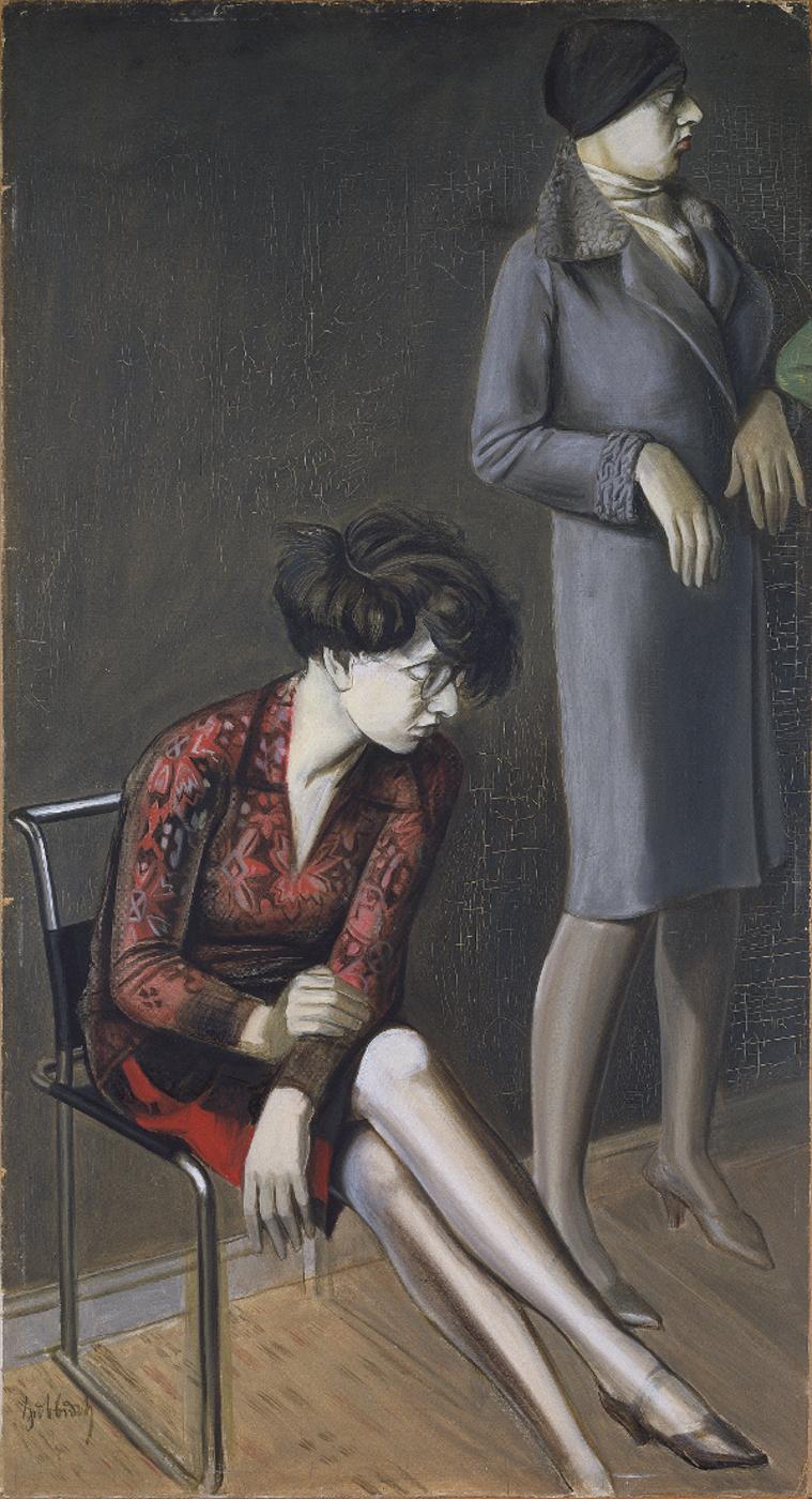 Karl Hubbuch, linke Seite des zerschnittenen Gemäldes