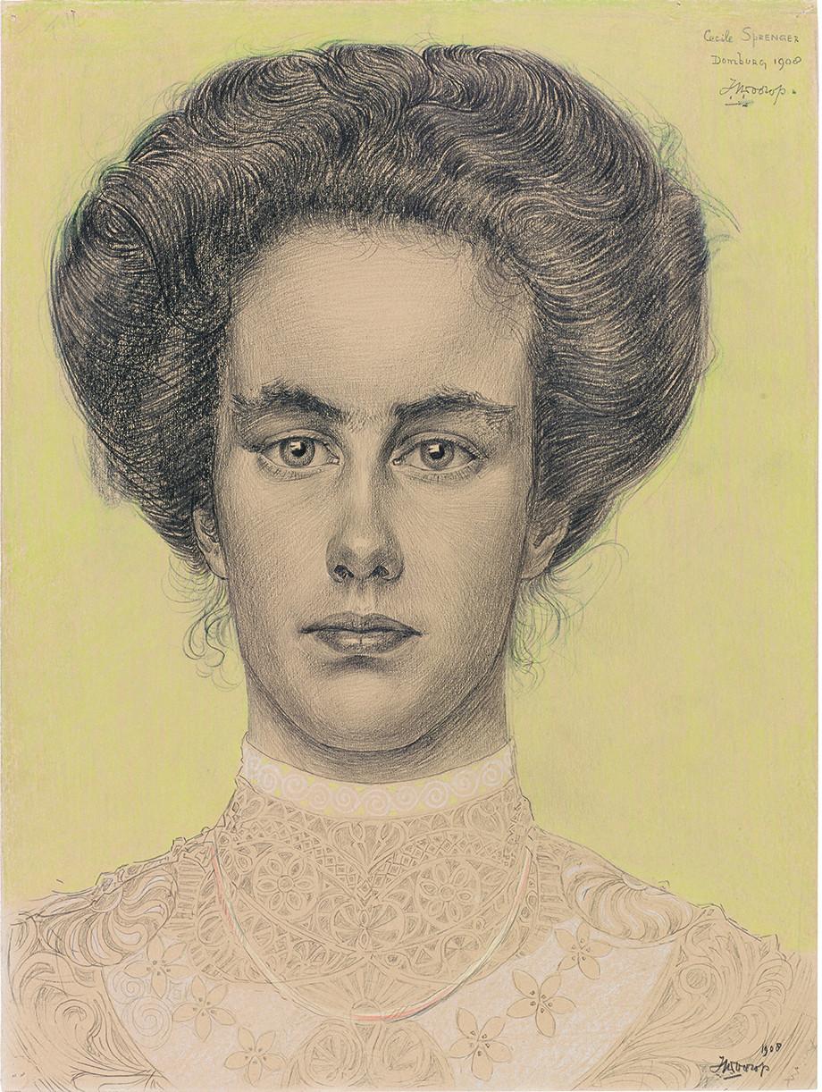 Realistisches Porträt von Cecile Sprenger aus dem Jahr 1908 (Foto: Sammlung Gemeentemuseum Den Haag)