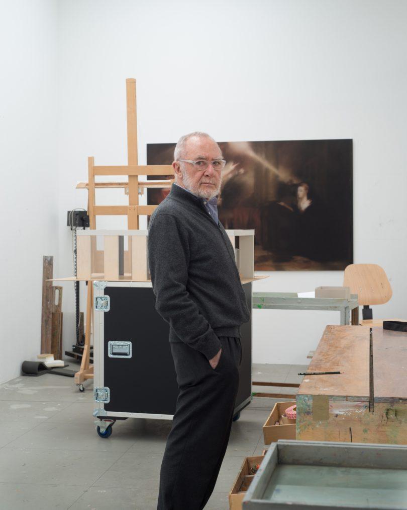 Gerhard Richter in seinem Atelier (Foto: Gerhard Richter, 2015, Albrecht Fuchs)