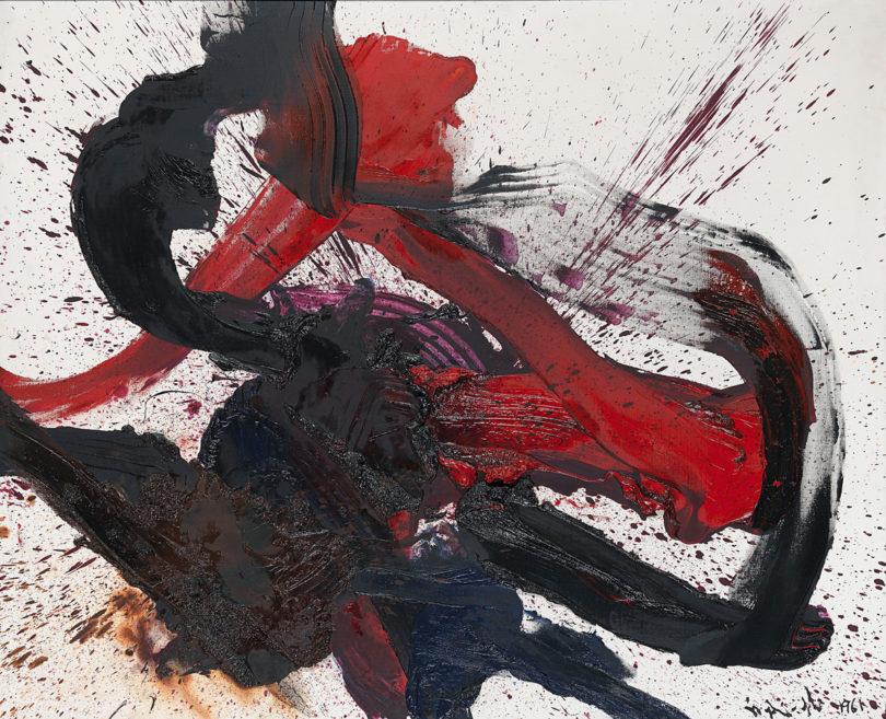 Für Kazuo Shiragas 1961 mit den Füßen gemaltes Bild fiel 2014 bei 2,6 Mio. Euro der Hammer, (Foto: www.kettererkunst.de)