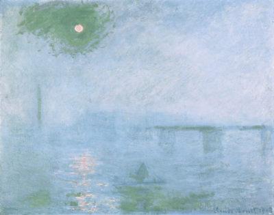 Land, Wasser und Luft verschmelzen bei Monet zu ätherischen Farbmassen: 1903 malte er die Londoner