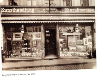 Kunsthandlung W. Utermann, um 1900, (Foto: Galerie Utermann)