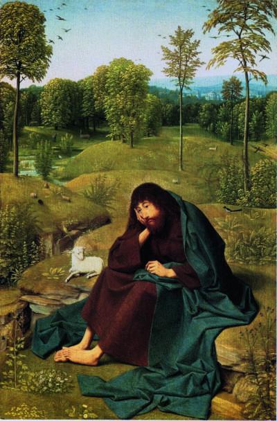 Geertgen tot Sint Jans, Der Heilige Johannes in der Einöde, ca. 1485, Berlin, Gemäldegalerie