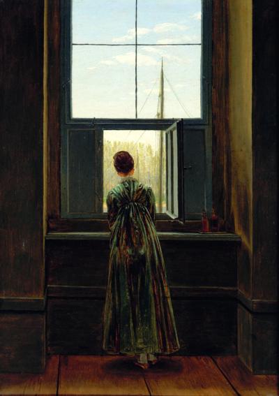 Caspar David Friedrich, Frau am Fenster, 1822, Alte Nationalgalerie Berlin