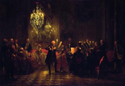 Adolph Menzel, Flötenkonzert Friedrichs II. des Großen in Sanssouci, 1850-52, Berlin, Alte Nationalgalerie