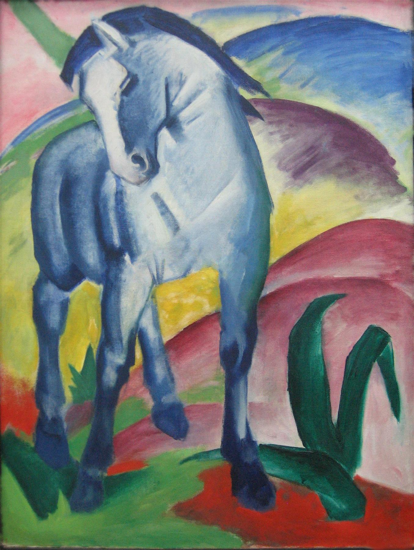 Franz Marc, Blaues Pferd I, 1911, München, Städtische Galerie im Lenbachhaus